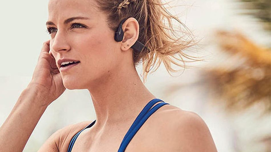 These waterproof headphones will stay on even during the most intense workouts.