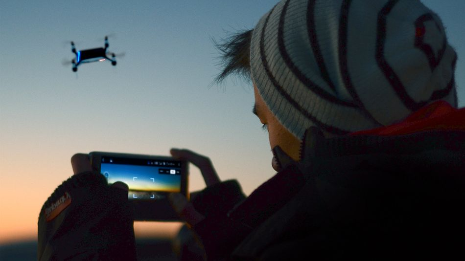 Shoot video and get real-time transmission with a high-tech drone.
