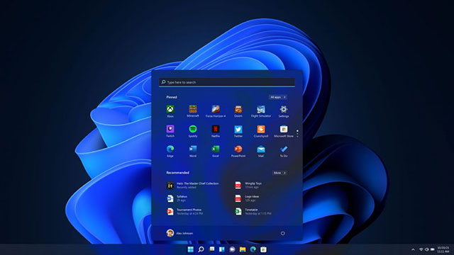 Windows 11 Start Screen Dark Mode