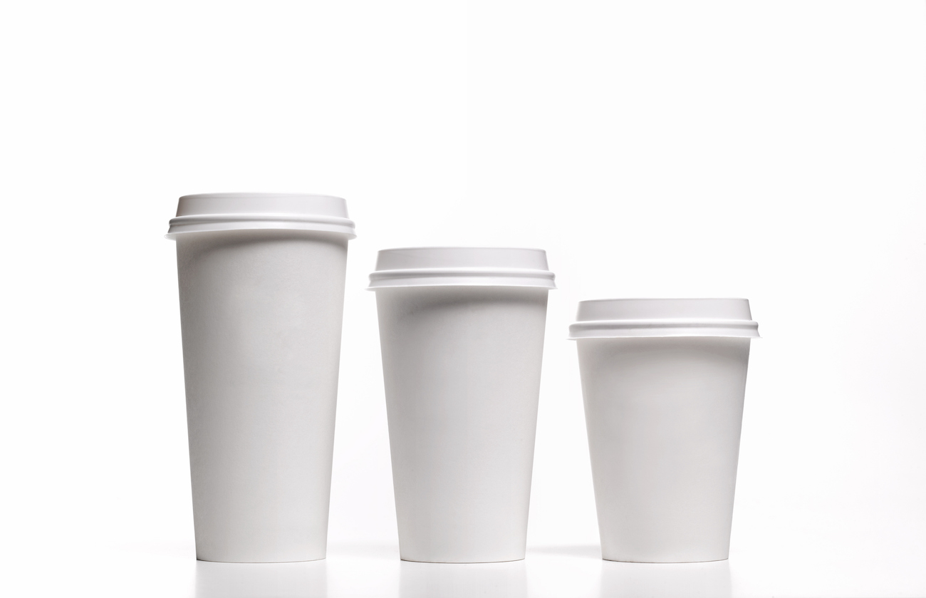 Family of disposable coffee/tea cups